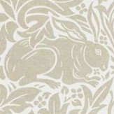 Morris Pure Brer Rabbit Linen Wallpaper