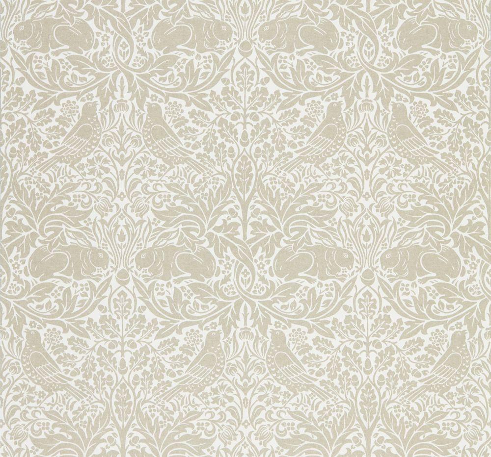 Morris Pure Brer Rabbit Linen Wallpaper - Product code: 216531