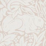Morris Pure Brer Rabbit Sea Pink Wallpaper