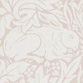 Morris Pure Brer Rabbit Sea Pink Wallpaper