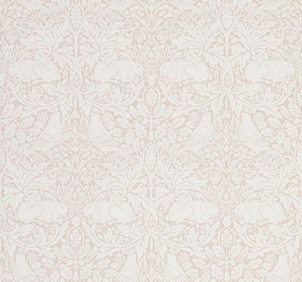 Morris Pure Brer Rabbit Sea Pink Wallpaper - Product code: 216533