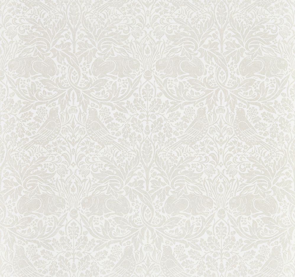Morris Pure Brer Rabbit White Clover Wallpaper main image