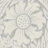Morris Pure Marigold Cloud Grey Wallpaper