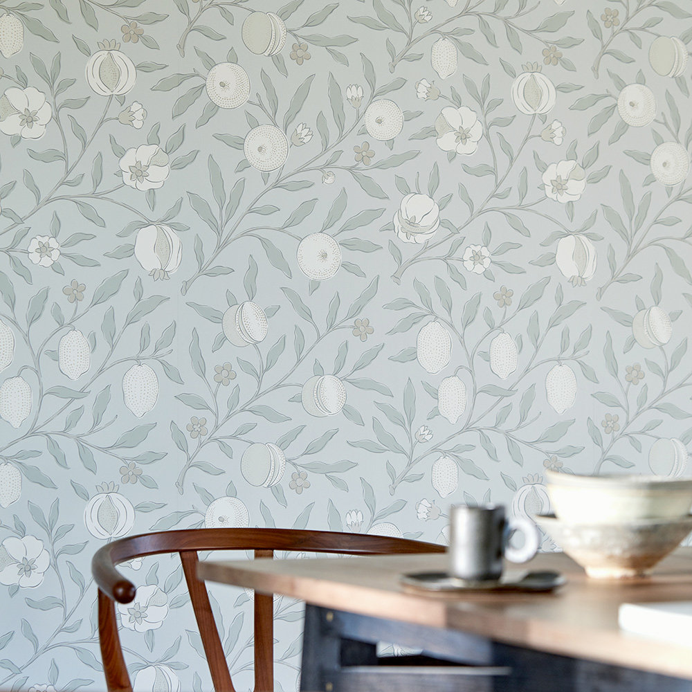 Morris Pure Fruit Grey Blue Wallpaper - Product code: 216540