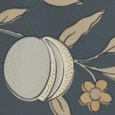 Morris Pure Fruit Black Ink Wallpaper