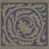 Morris Pure Scroll Black Ink Wallpaper