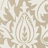Morris Pure Thistle Gilver Beaded Wallpaper