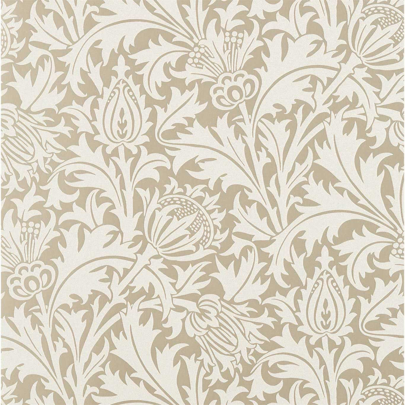 Morris Pure Thistle Gilver Beaded Wallpaper - Product code: 216548