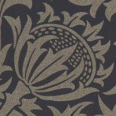 Morris Pure Thistle Black Ink Wallpaper - Product code: 216549