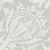 Morris Pure Thistle Pebble Wallpaper