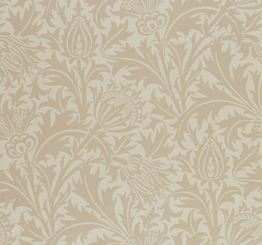 Morris Pure Thistle Linen Wallpaper - Product code: 216552