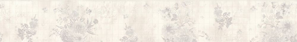 Floral Border - Silver Grey - by Albany