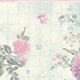 Albany Floral Border Aqua / Pink