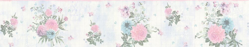 Floral Border - Green / Pink - by Albany
