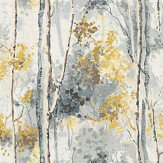 Prestigious Silver Birch Grey/ Yellow Fabric - Product code: 5028/958