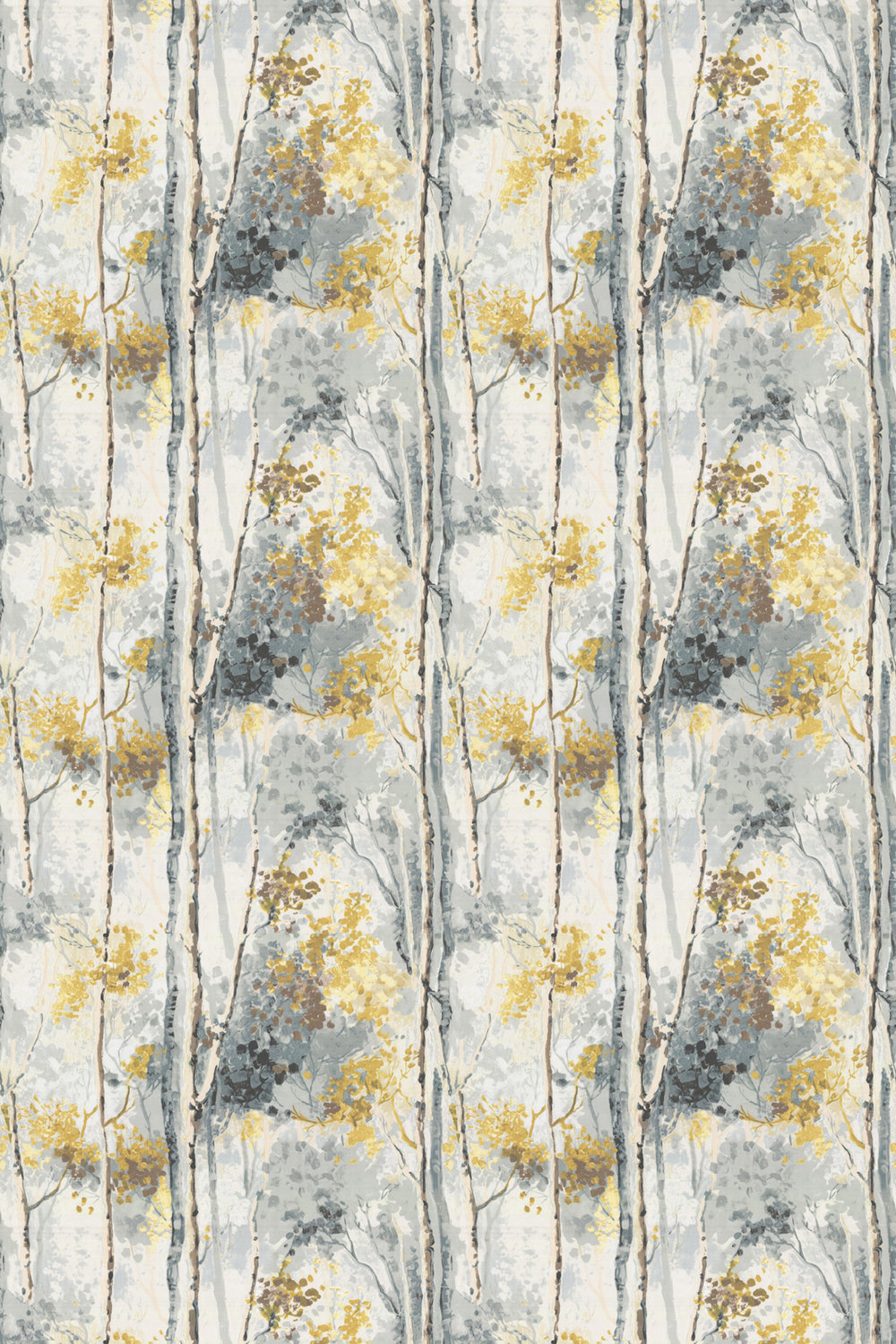 Silver Birch By Prestigious Grey Yellow Wallpaper Direct