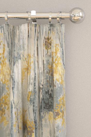 Prestigious Silver Birch Grey/ Yellow Curtains - Product code: 5028/958