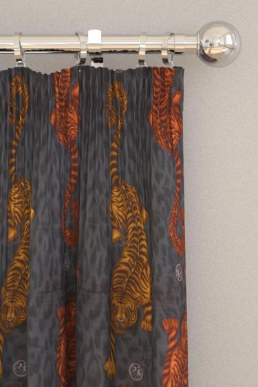 Emma J Shipley Tigris Velvet Flame Curtains - Product code: F1213/01