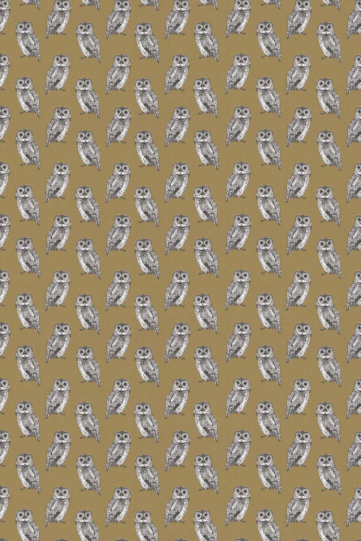 Owl Fabric - Tawny - by Prestigious