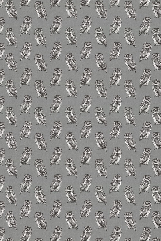 Owl Fabric - Flint - by Prestigious