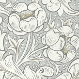 Morris Pure Bachelors Button Grey Blue Wallpaper - Product code: 216554