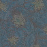 Roberto Cavalli Ferns Midnight Blue Wallpaper