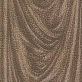 Roberto Cavalli Glitter Leopard Brown Wallpaper