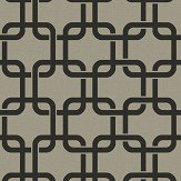Engblad & Co Waldorf Flock Grey and Black Wallpaper