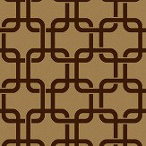 Engblad & Co Waldorf Flock Copper Wallpaper