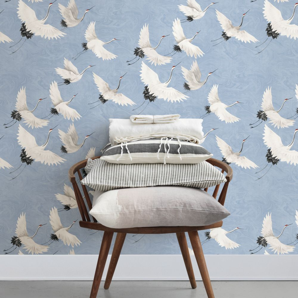 Windsong Wallpaper - Periwinkle - by Albany