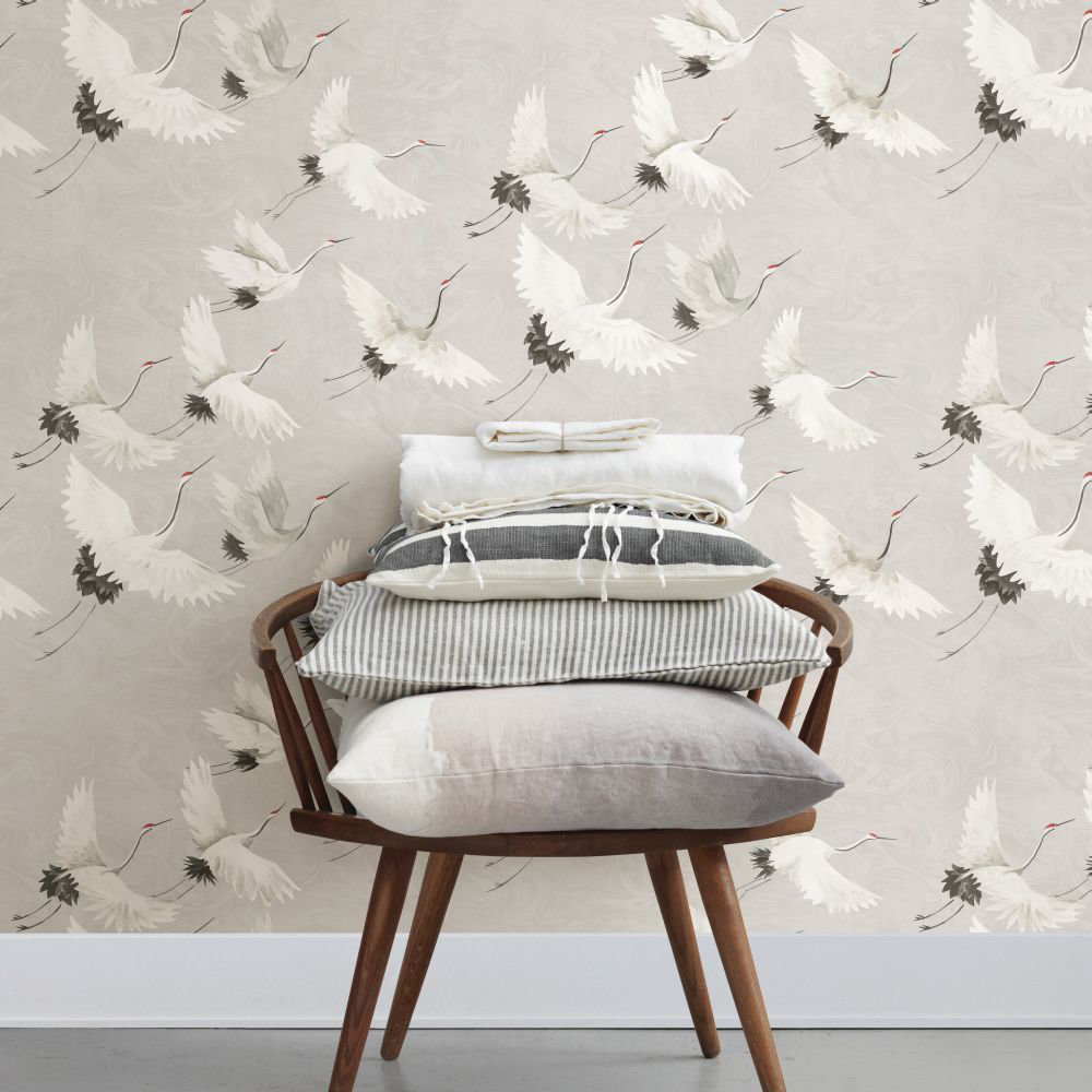 Windsong Wallpaper - Light Grey - by Albany