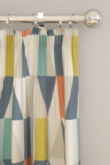 Scion Nuevo Citrus / Paprika / Forest Curtains - Product code: 120711