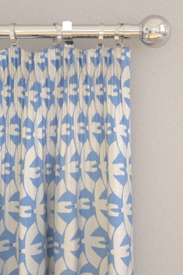 Scion Pajaro Electric Blue Curtains - Product code: 120718