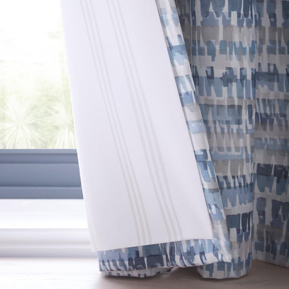 Tenby Ready Made Curtains - Indigo - by Studio G