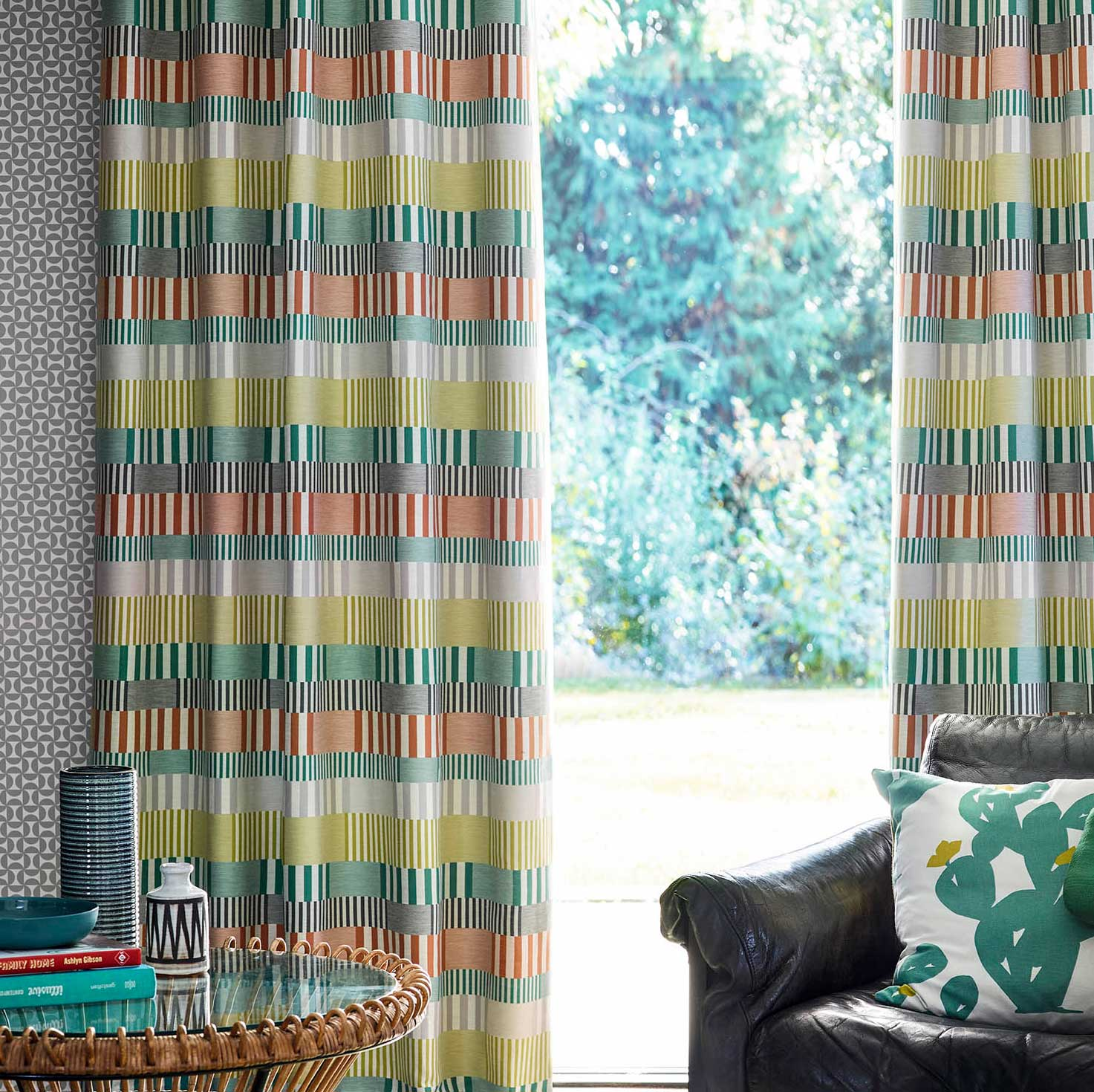 Scion Cerro Forest / Paprika / Lime Fabric - Product code: 132637