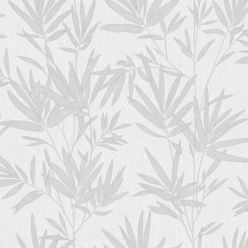 SK Filson Botanical Leaves Silver Wallpaper main image