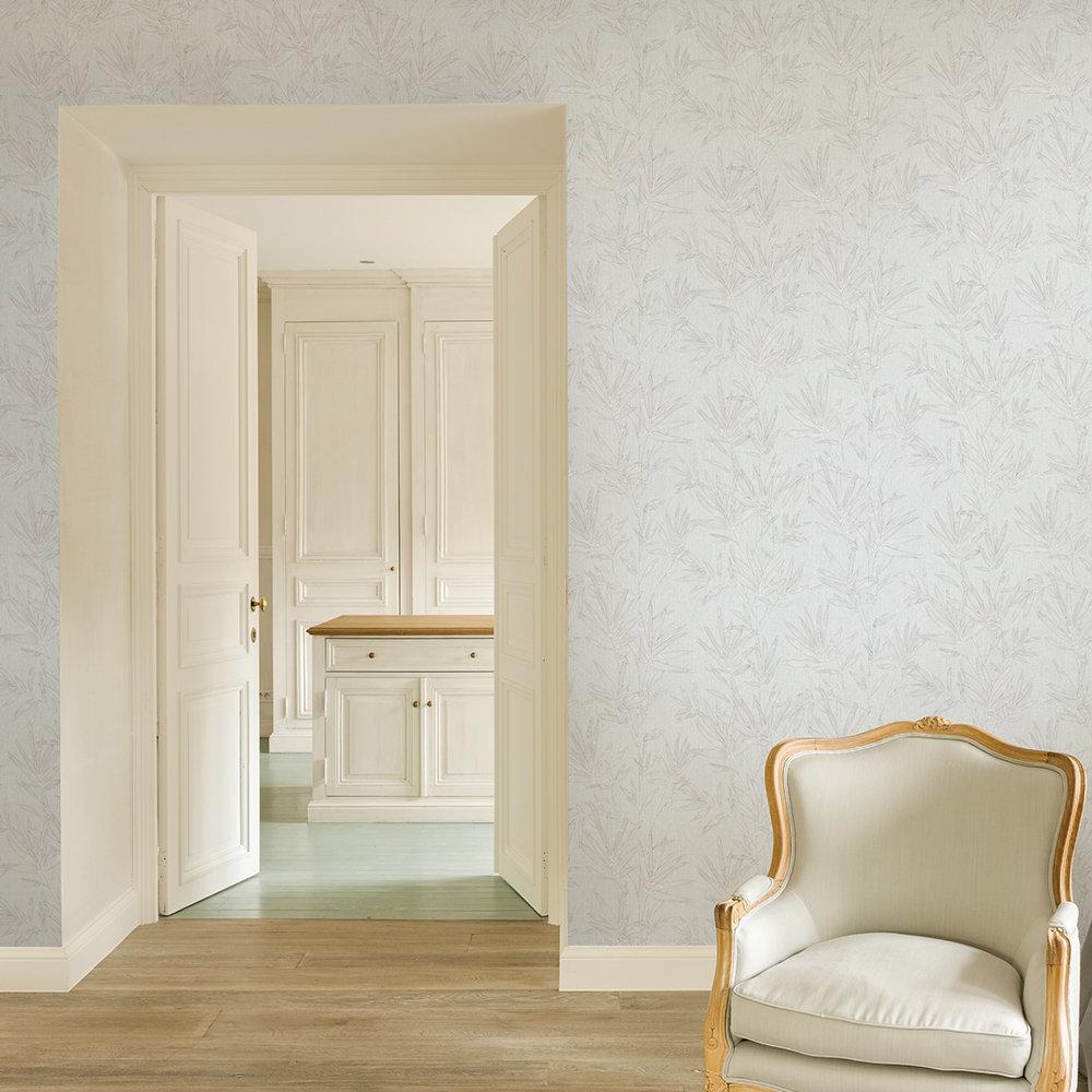 Botanical Leaves Wallpaper - Grey - by SK Filson