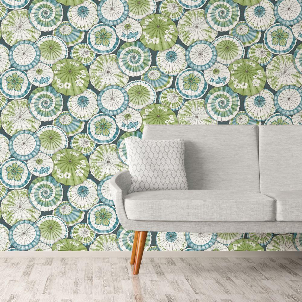 Mikado Wallpaper - Peacock - by Albany