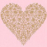 Albany Floral Heart Pink Wallpaper