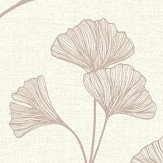 Albany Glistening Ginkgo Cream Wallpaper