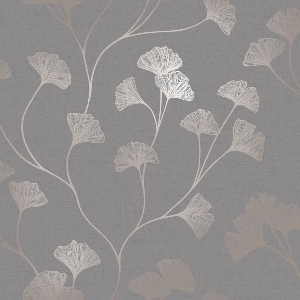 Albany Glistening Ginkgo Grey  Wallpaper - Product code: 12702