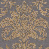 Albany Glistening Damask Charcoal Wallpaper