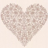 Albany Floral Heart Cream Wallpaper