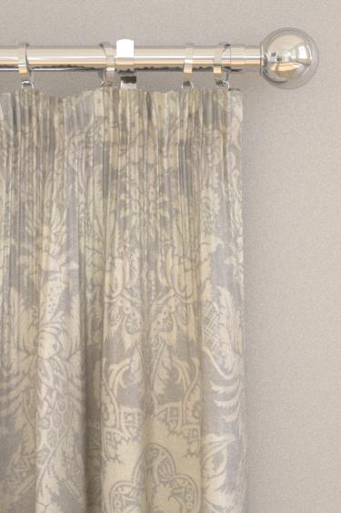 Thibaut Chardonnet Damask Grey Curtains