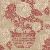 Thibaut Tullamore Red / Cream Fabric
