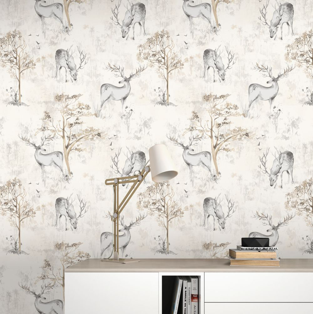 Albany Highland Stag Grey Wallpaper - Product code: 220919