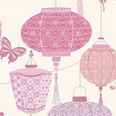 Albany Lantern Pink Wallpaper - Product code: 224313