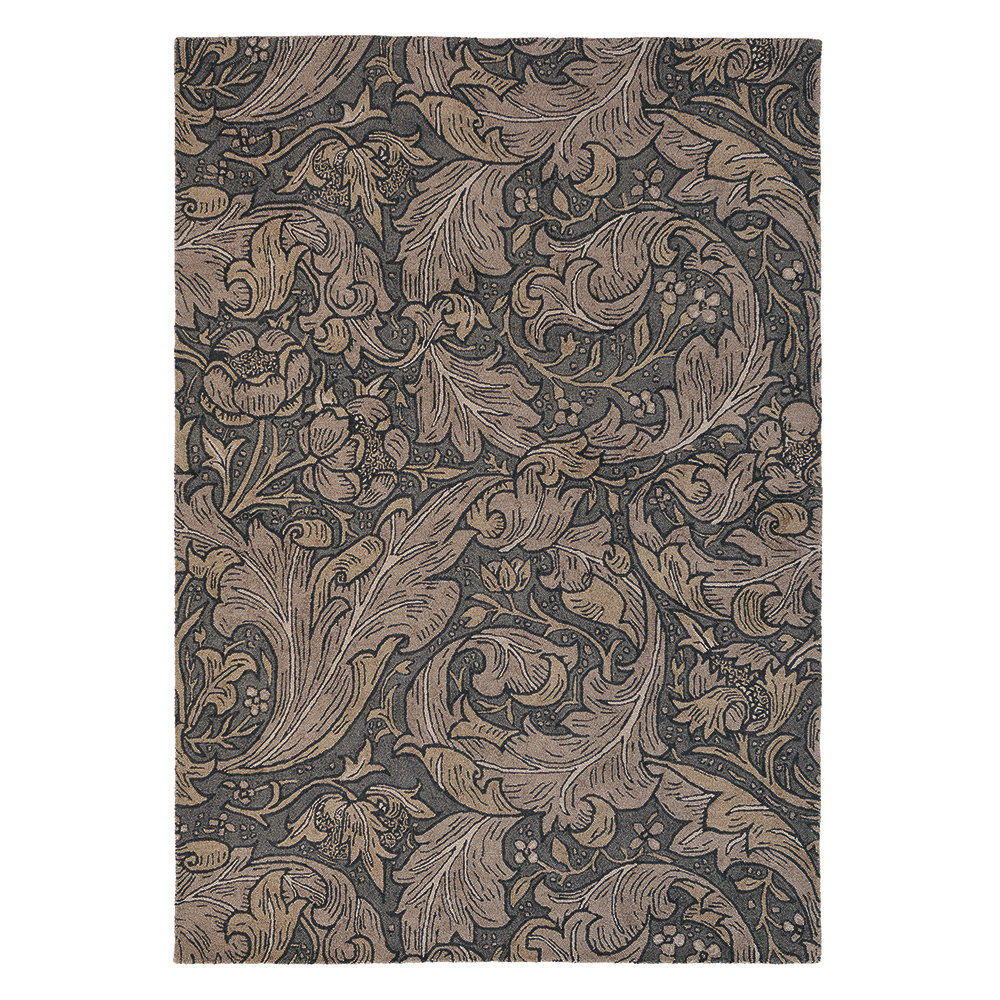 Bachelors Button Rug - Charcoal - by Morris