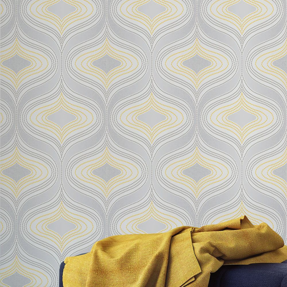 Nuevo Wallpaper - Yellow - by Albany