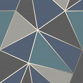 Albany Apex Geo Aqua/ Navy Wallpaper - Product code: FD42001